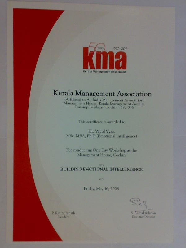 KMA Certificate